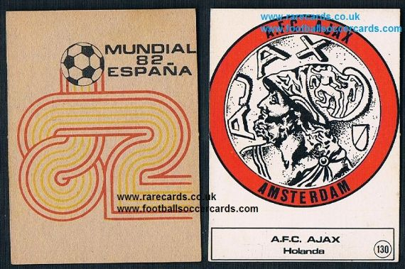 1982 Graficas 3D AJAX AMSTERDAM emblem gum card from Spain